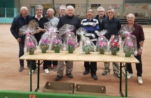 G. Gerin et JM Rouveure finaliste 20 quadrettes Chuzelles avec L. Herain et F. Vallette