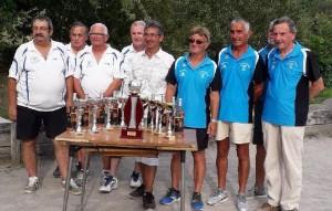 D. Ghazarian, A. Bouvet, JP Viallet, JM Rouveure et G. Gerin vainqueurs du 16 quadrettes Côte d'Arey