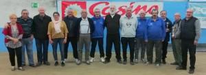 La quadrette Bouvet finaliste de la super finale des concours vérérans du Rhodia