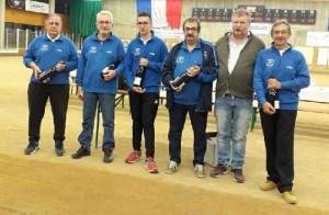 Bouvet, Rouveure, M. Gerin, Ghazarian, Ull (Président St Maurice) G. Gerin finalistes 16 quadrette 4ème division en novembre 2019