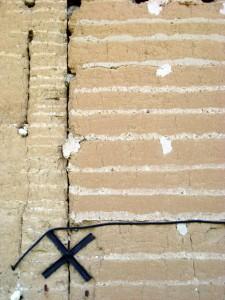 Agrandissement du même mur au XX ième.