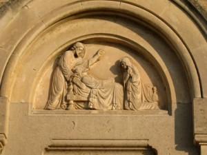Détail du tympan de la chapelle