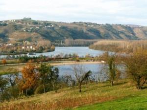 """Le Rhône vers la """"zone naturelle"""""""