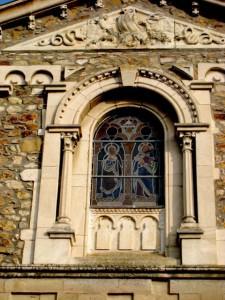 Eglise-détail de la façade